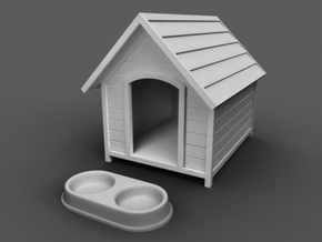 Doghouse and Bowl 3D printing