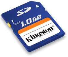 memoria SD 1GB kingston