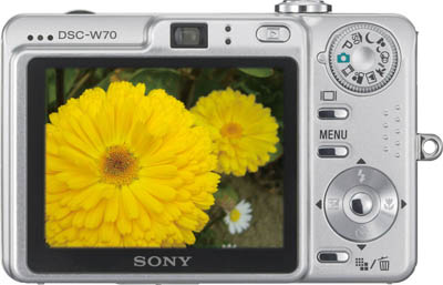 Camara Digital Sony Cybershot DSC-W70 display