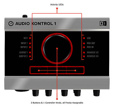 Native Instruments audio control 1 Vista superior