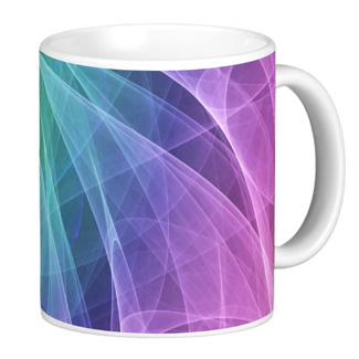 Whirlpool Diamond Colorful - Coffee Mug by Sergio Schnitzler aka Yio multimedia